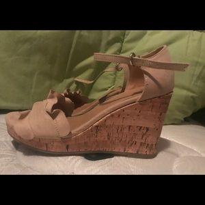 TIME And TRU - Women Beige Wedge Shoe Heel